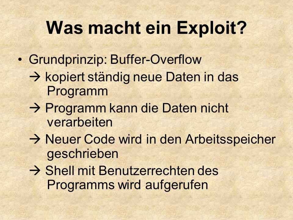 Was macht ein Exploit.