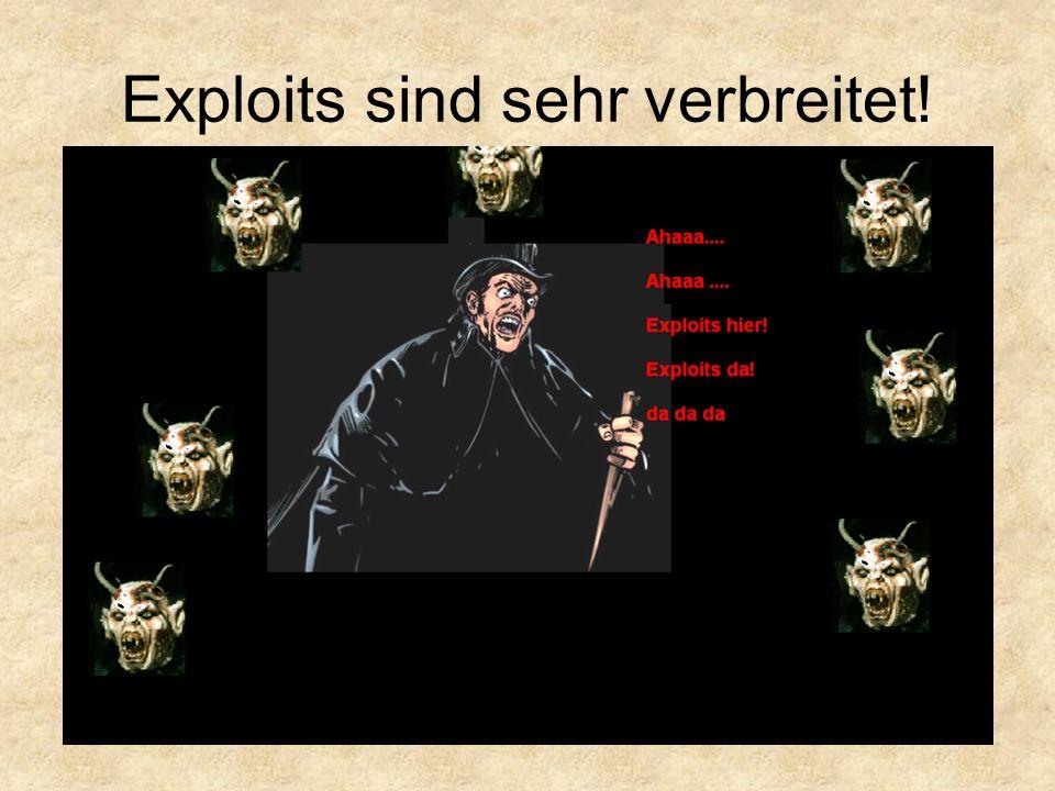 Exploits sind sehr verbreitet!