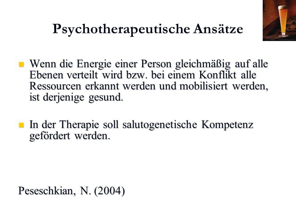 Karl C. Mayer www.neuro24.de Psychotherapeutische Ansätze Wenn die Energie einer Person gleichmäßig auf alle Ebenen verteilt wird bzw. bei einem Konfl