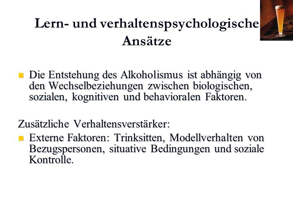 Karl C. Mayer www.neuro24.de Lern- und verhaltenspsychologische Ansätze Die Entstehung des Alkoholismus ist abhängig von den Wechselbeziehungen zwisch