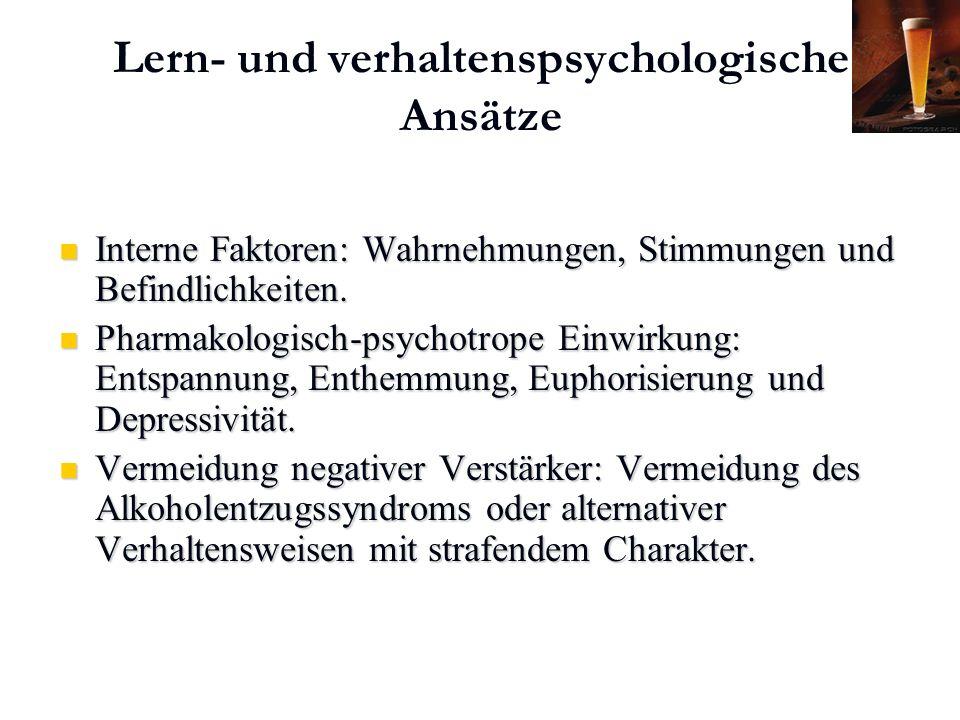 Karl C. Mayer www.neuro24.de Lern- und verhaltenspsychologische Ansätze Interne Faktoren: Wahrnehmungen, Stimmungen und Befindlichkeiten. Interne Fakt