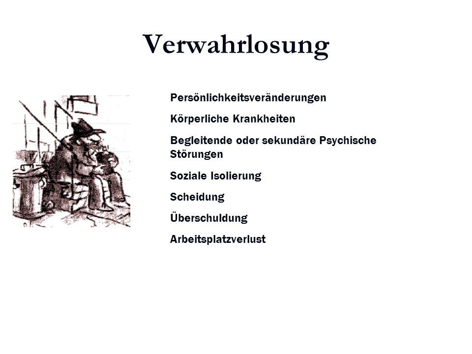 Karl C. Mayer www.neuro24.de Verwahrlosung Persönlichkeitsveränderungen Körperliche Krankheiten Begleitende oder sekundäre Psychische Störungen Sozial