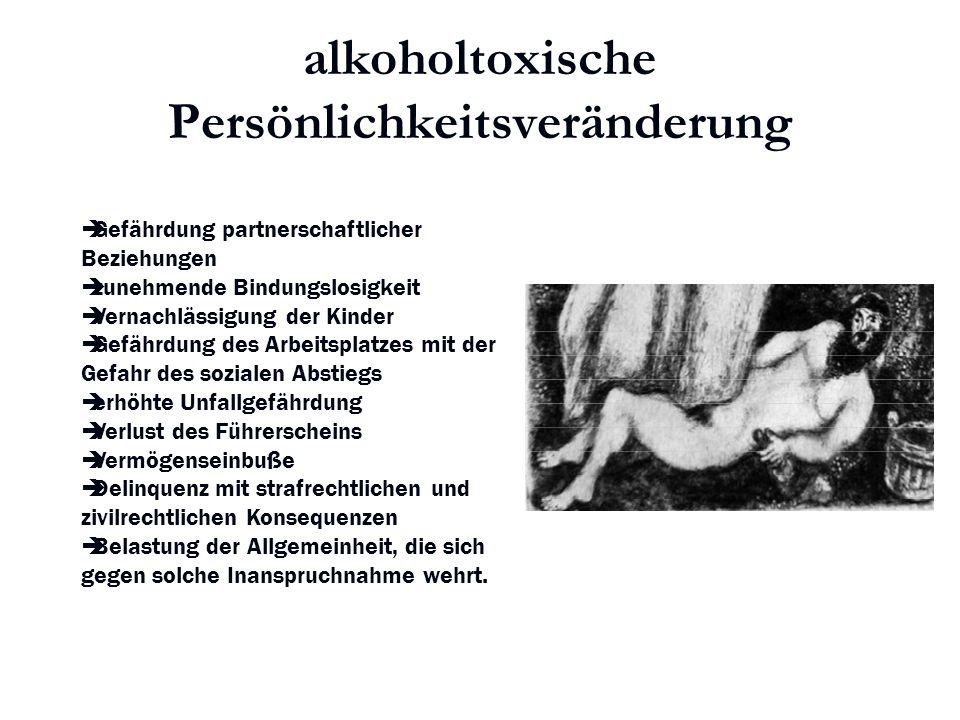 Karl C. Mayer www.neuro24.de alkoholtoxische Persönlichkeitsveränderung  Gefährdung partnerschaftlicher Beziehungen  zunehmende Bindungslosigkeit 