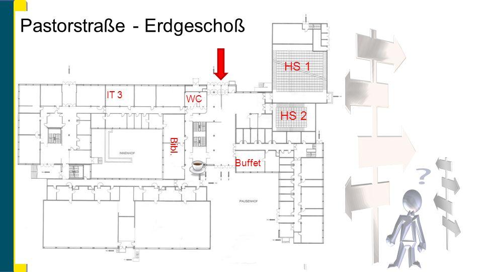 HS 1 HS 2 IT 3 WC Bibl. Buffet Pastorstraße - Erdgeschoß