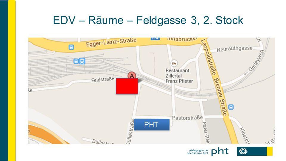 EDV – Räume – Feldgasse 3, 2. Stock PHT