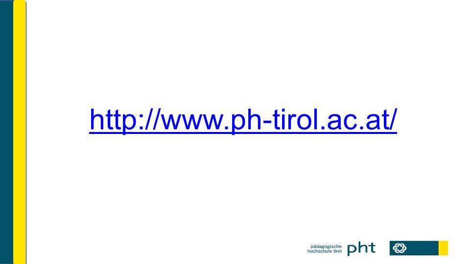 """Allgemeines Alle Informationen zum Lehrgang auf """"www.ph-tirol.ac.at unter """"Ausbildung-U-Praktikum- AHS/BMHS PH-Online (PHO) als Kommunikationsplattform (Bitte TSN E-Mail Adresse als """"Dienstadresse verwenden!)"""