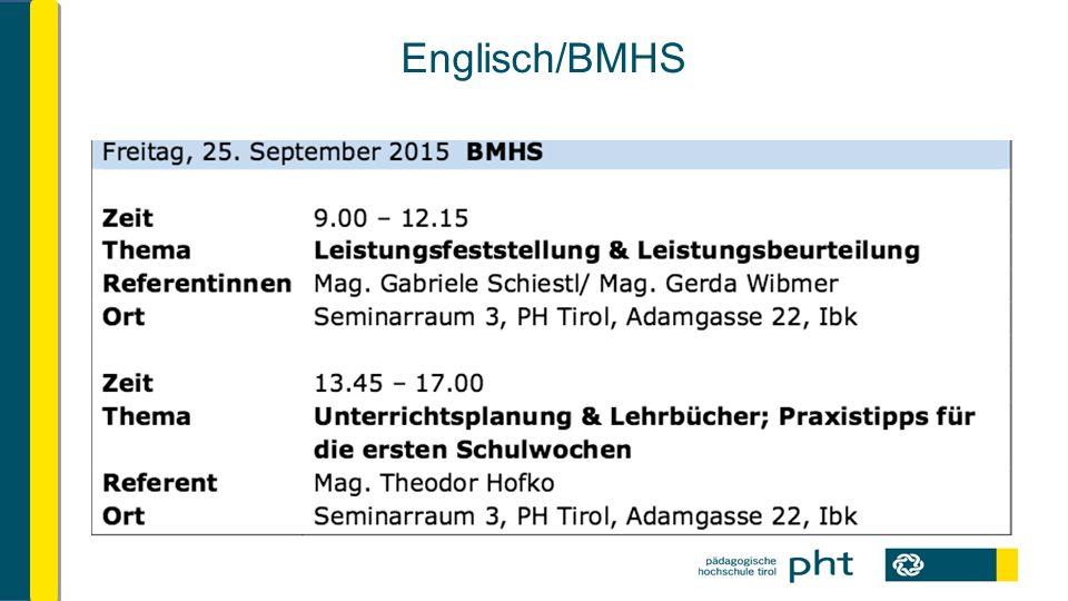 Englisch/BMHS