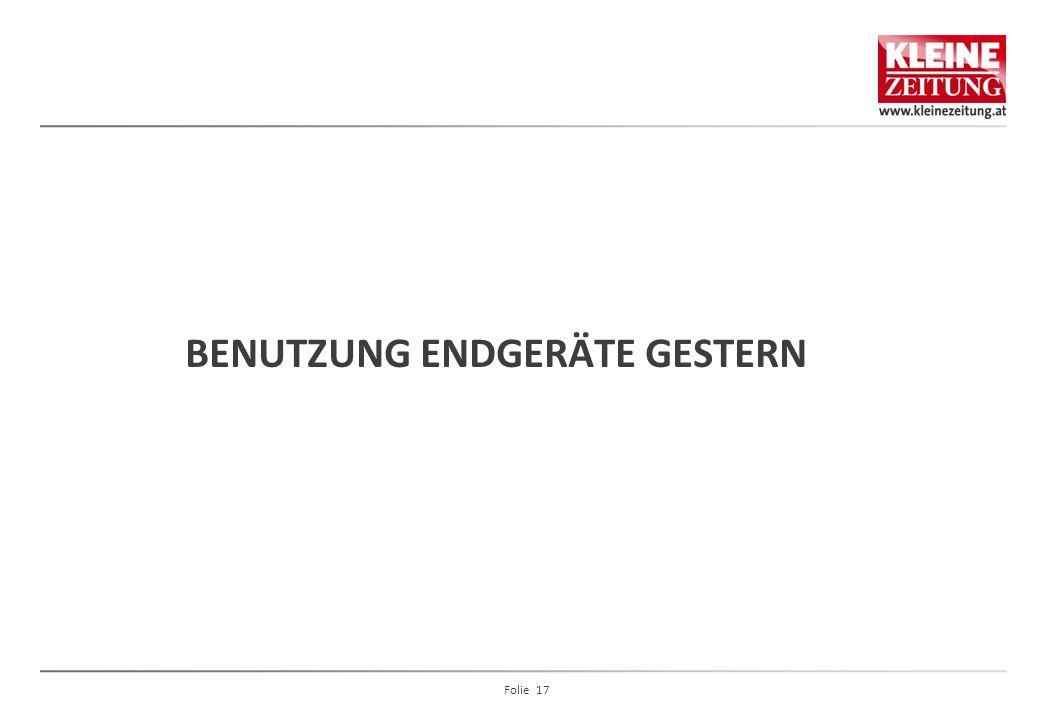 BENUTZUNG ENDGERÄTE GESTERN Folie 17