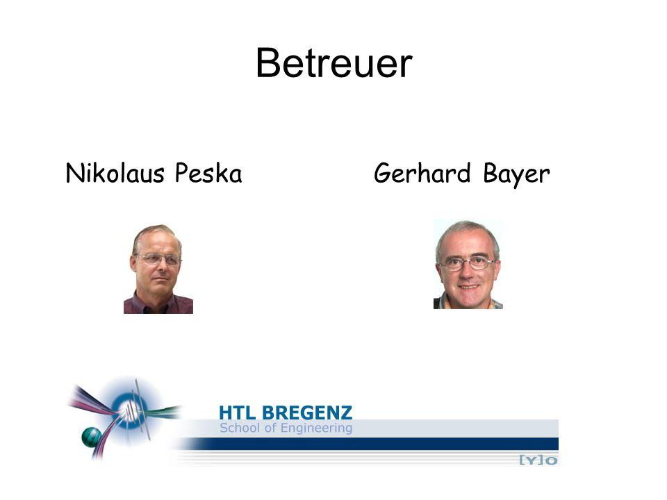 Betreuer Nikolaus PeskaGerhard Bayer