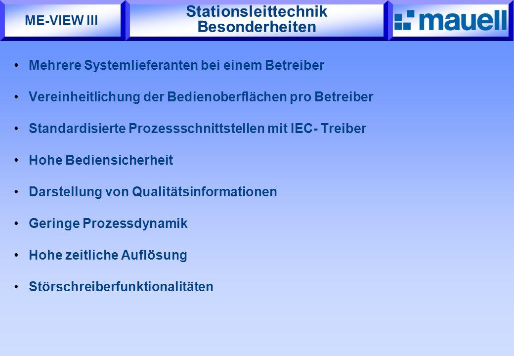 Stationsleittechnik Besonderheiten Mehrere Systemlieferanten bei einem Betreiber Vereinheitlichung der Bedienoberflächen pro Betreiber Standardisierte