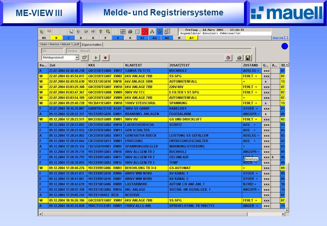 Melde- und Registriersysteme ME-VIEW III