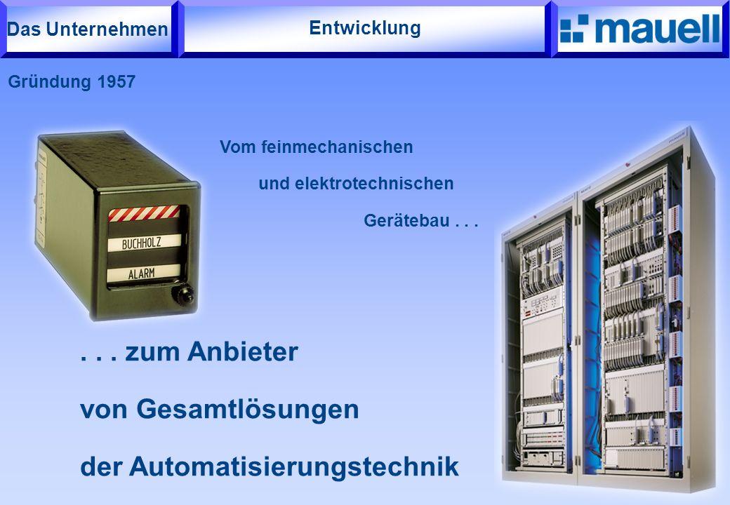 Entwicklung Vom feinmechanischen und elektrotechnischen Gerätebau...... zum Anbieter von Gesamtlösungen der Automatisierungstechnik Gründung 1957 Das