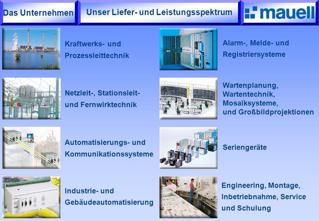 Wartenplanung, Wartentechnik, Mosaiksysteme, und Großbildprojektionen Unser Liefer- und Leistungsspektrum Kraftwerks- und Prozessleittechnik Netzleit-