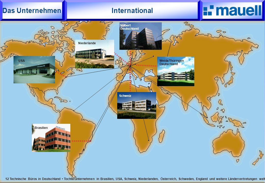 International Brasilien Niederlande Schweiz USA Velbert Deutschland Weida/Thüringen Deutschland 12 Technische Büros in Deutschland Tochterunternehmen