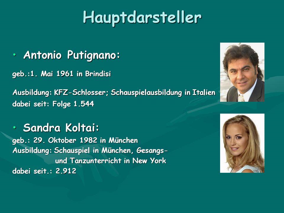 Hauptdarsteller Antonio Putignano:Antonio Putignano: geb.:1. Mai 1961 in Brindisi geb.:1. Mai 1961 in Brindisi Ausbildung: KFZ-Schlosser; Schauspielau