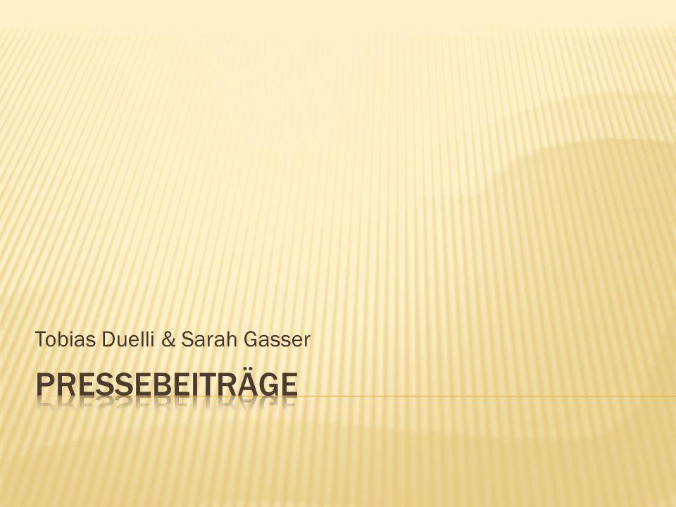 Tobias Duelli & Sarah Gasser