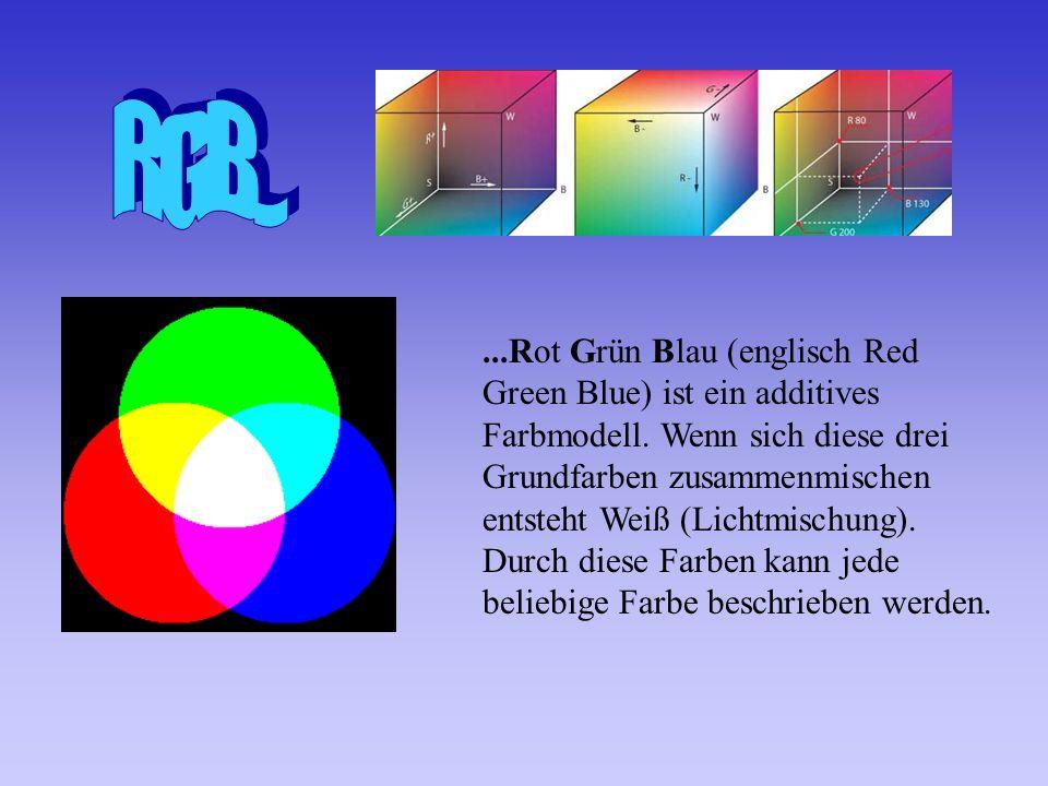 ...Rot Grün Blau (englisch Red Green Blue) ist ein additives Farbmodell.