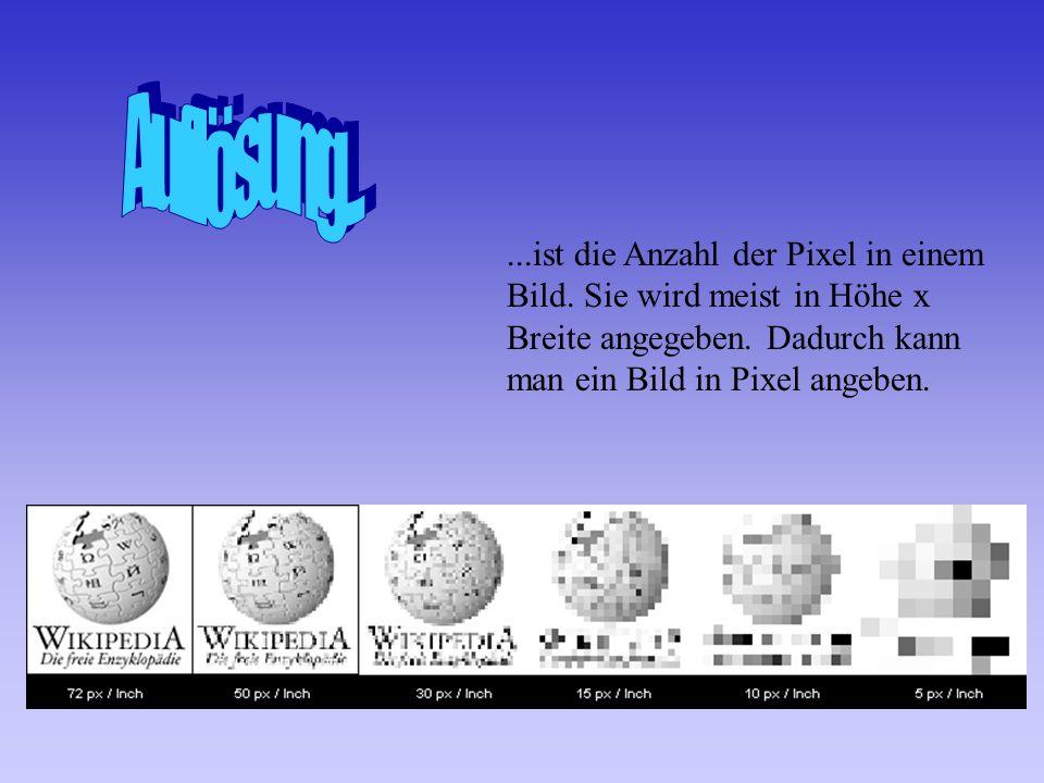 ...ein Bild kann in verschiedenen Grafikformaten gespeichert werden.