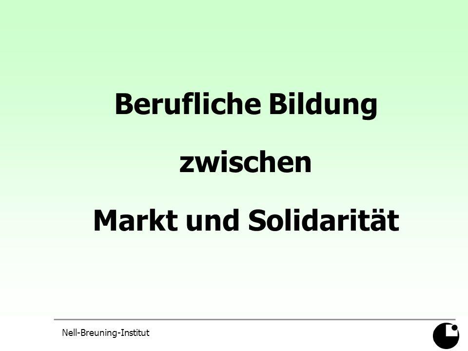 Nell-Breuning-Institut Entwarnung.