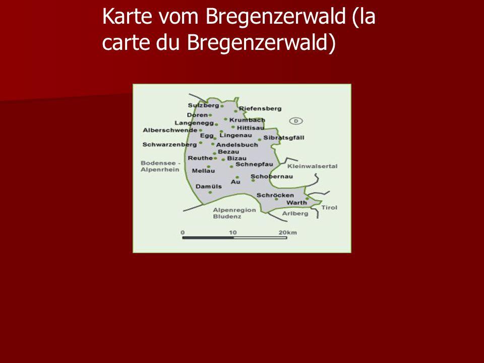 Karte vom Bregenzerwald (la carte du Bregenzerwald)