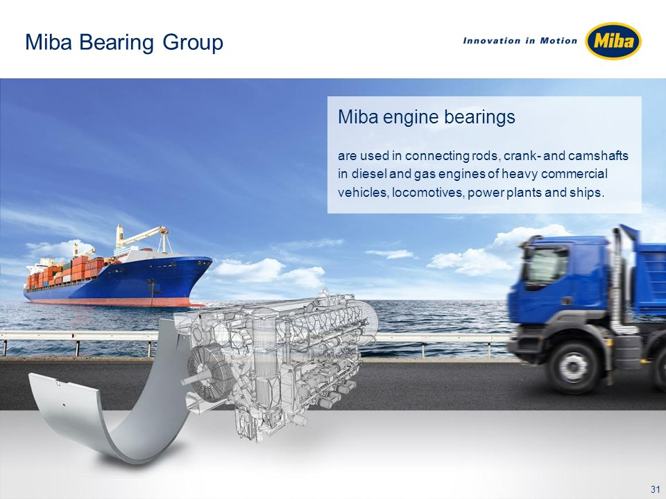 Miba Friction Group Miba friction materials determine the performance of clutches and brakes.