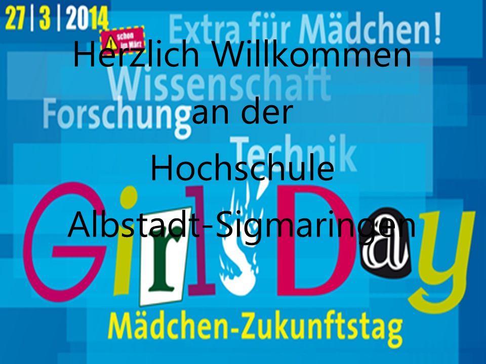 1 Herzlich Willkommen an der Hochschule Albstadt-Sigmaringen