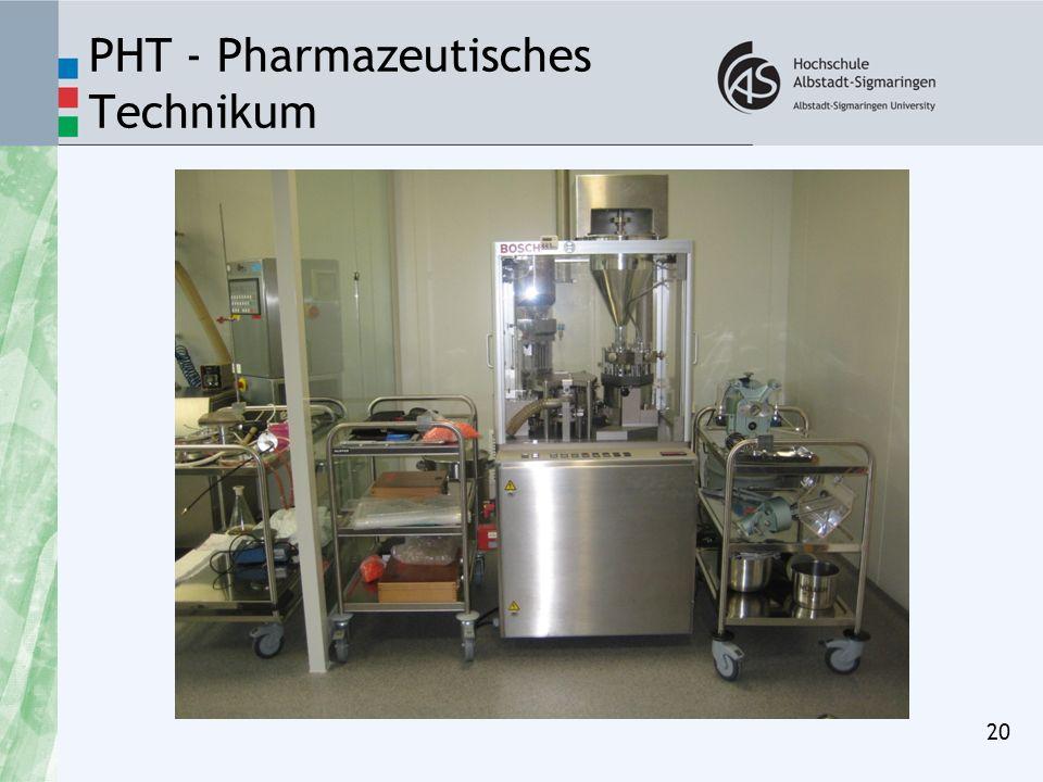PHT - Pharmazeutisches Technikum 20