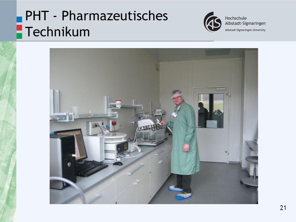 PHT - Pharmazeutisches Technikum 21