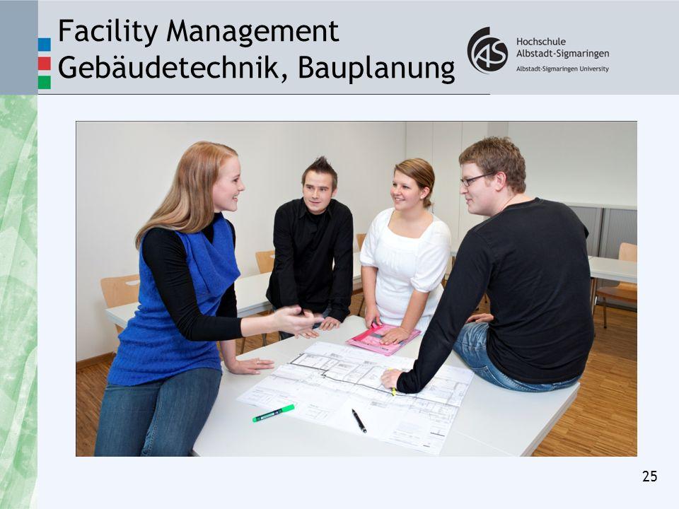Facility Management Gebäudetechnik, Bauplanung 25