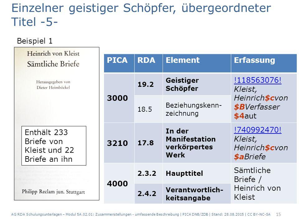15 PICARDAElementErfassung 3000 19.2 Geistiger Schöpfer !118563076.
