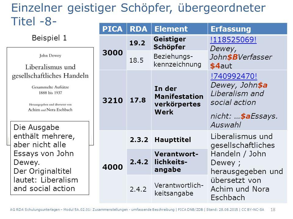 18 PICARDAElementErfassung 3000 19.2 Geistiger Schöpfer !118525069.