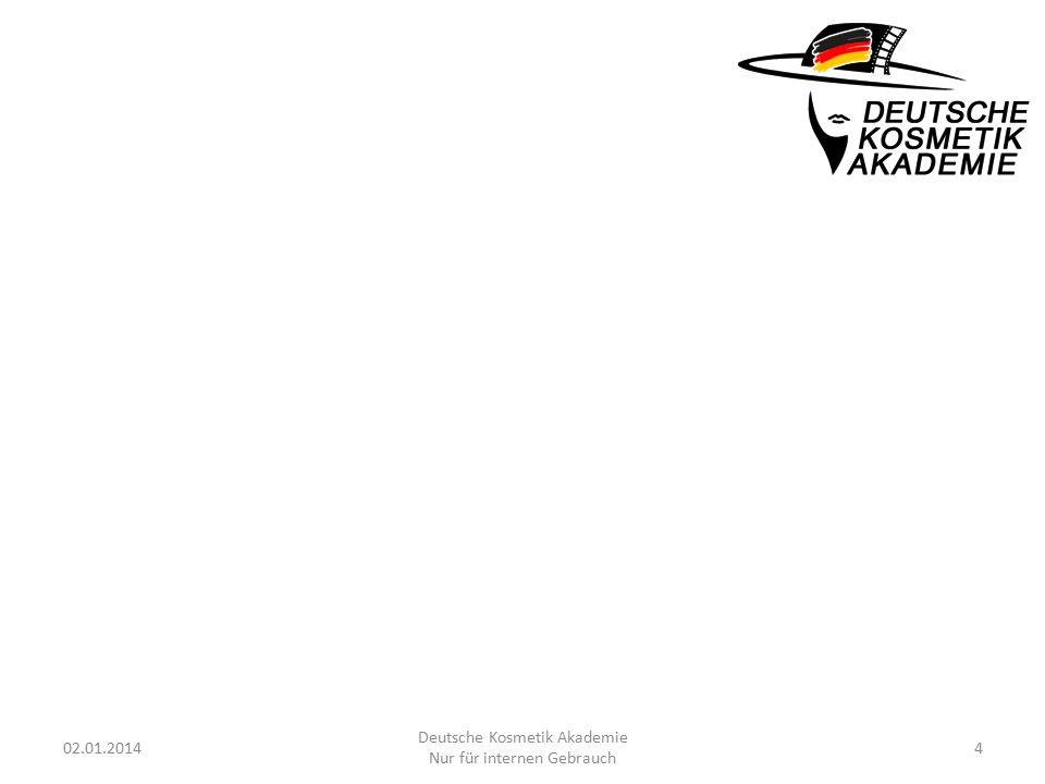 02.01.20144 Deutsche Kosmetik Akademie Nur für internen Gebrauch