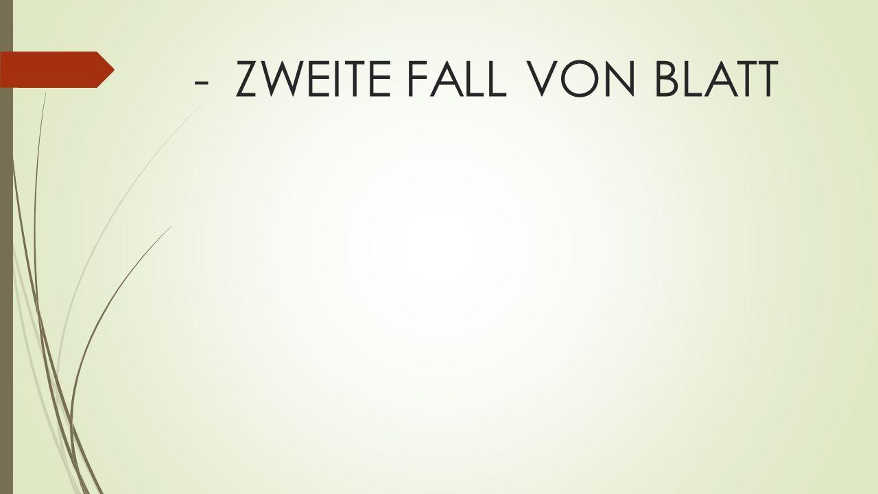 -ZWEITE FALL VON BLATT