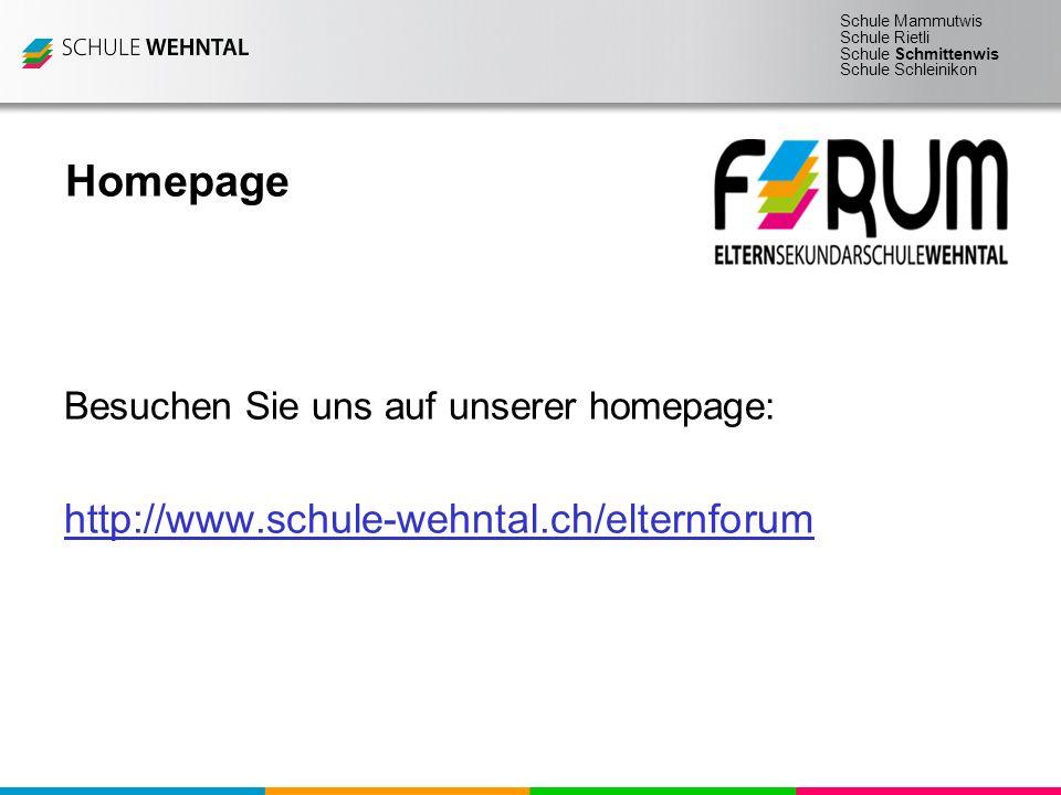 Schule Mammutwis Schule Rietli Schule Schmittenwis Schule Schleinikon Homepage Besuchen Sie uns auf unserer homepage: http://www.schule-wehntal.ch/elt