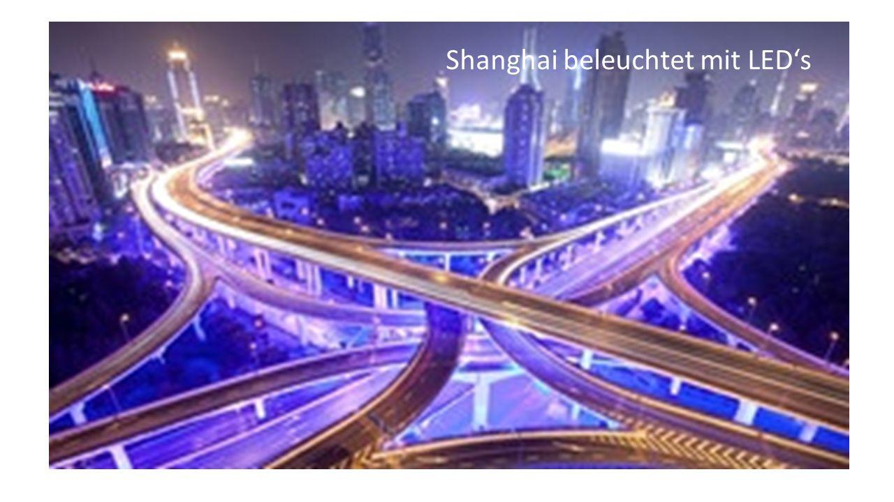 Shanghai beleuchtet mit LED's