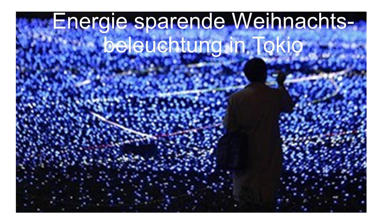 Energie sparende Weihnachts- beleuchtung in Tokio
