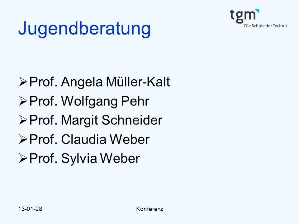 13-01-28Konferenz Jugendberatung  Prof. Angela Müller-Kalt  Prof. Wolfgang Pehr  Prof. Margit Schneider  Prof. Claudia Weber  Prof. Sylvia Weber