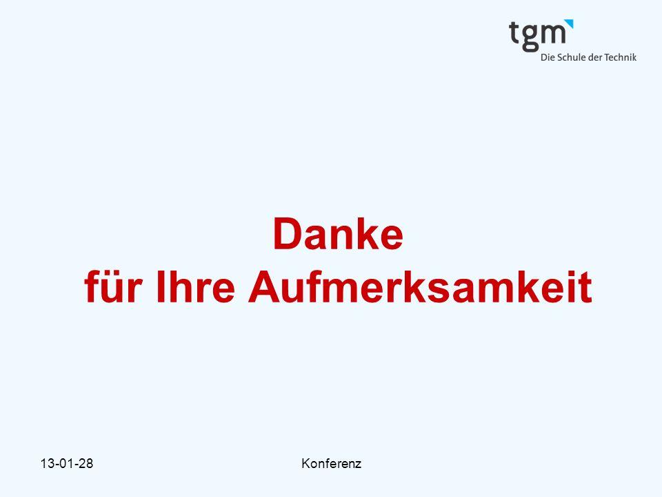 13-01-28Konferenz Danke für Ihre Aufmerksamkeit