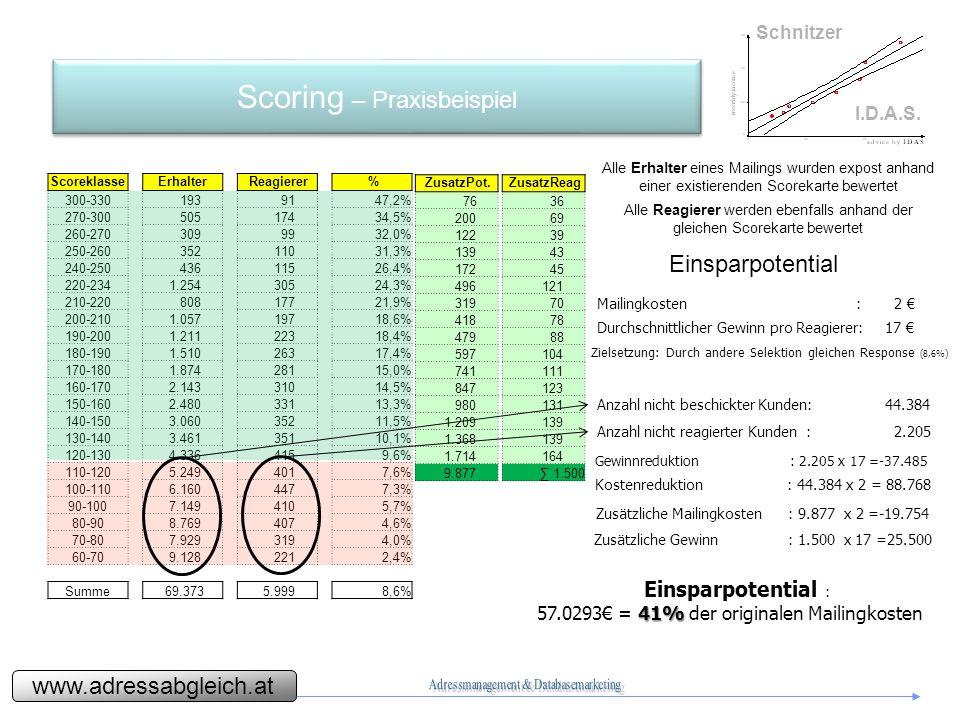 www.adressabgleich.at Schnitzer I.D.A.S.Zeithorizont Ab Übergabe der historischen Daten ca.