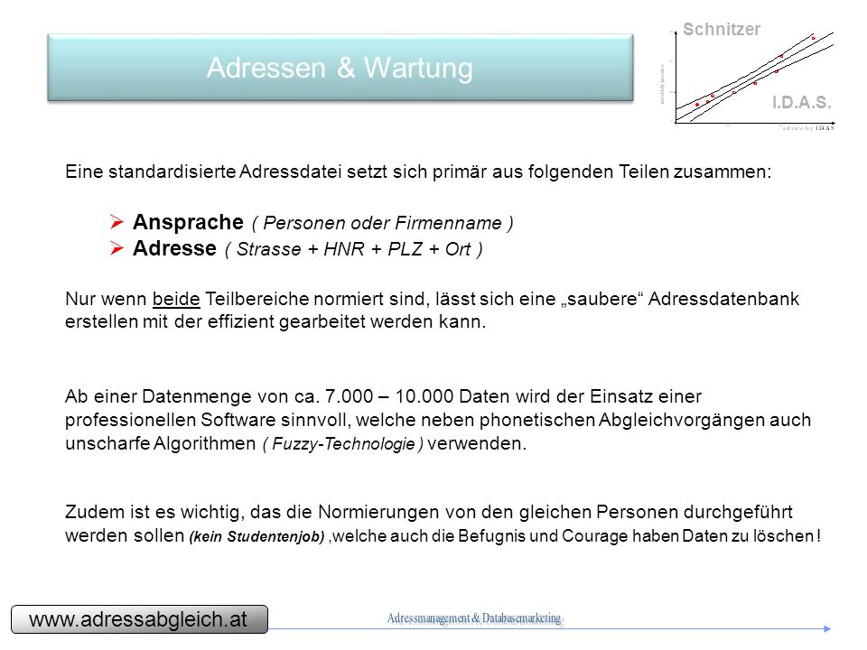 www.adressabgleich.at Schnitzer I.D.A.S.Adressen & Wartung - Vorgehensweise 1a.