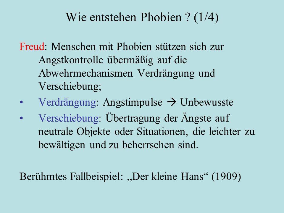 Wie entstehen Phobien .