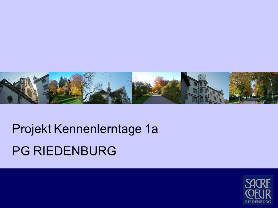 Projekt Kennenlerntage 1a PG RIEDENBURG