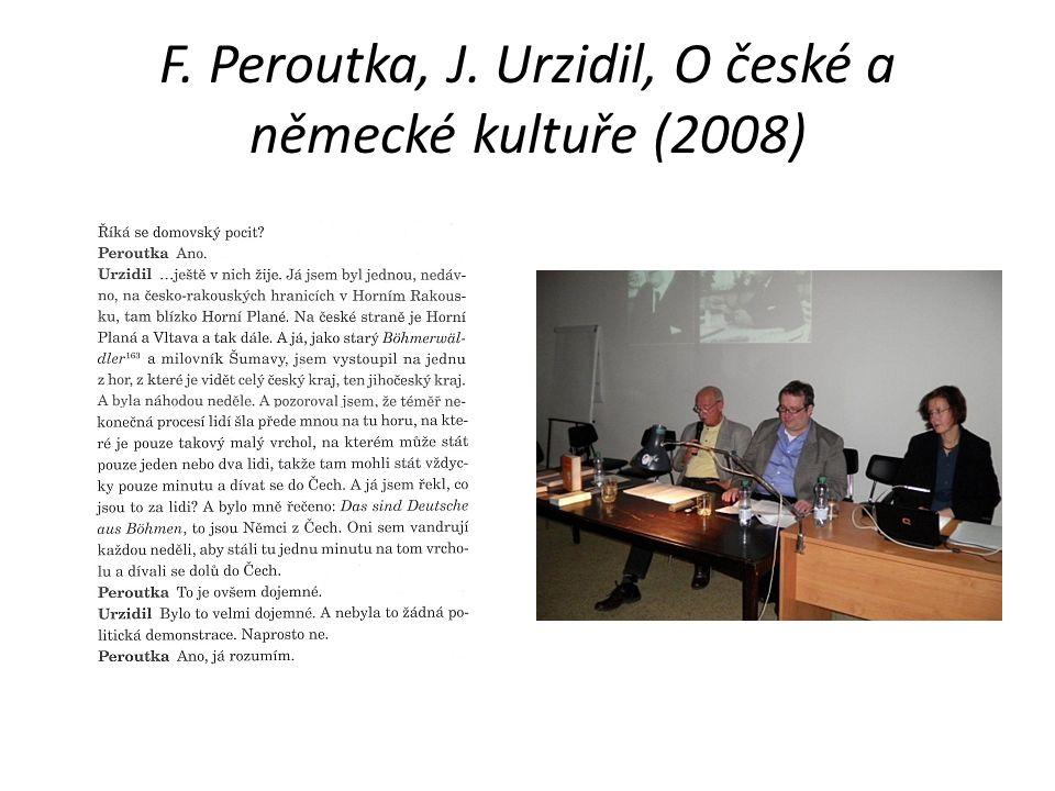 F. Peroutka, J. Urzidil, O české a německé kultuře (2008)