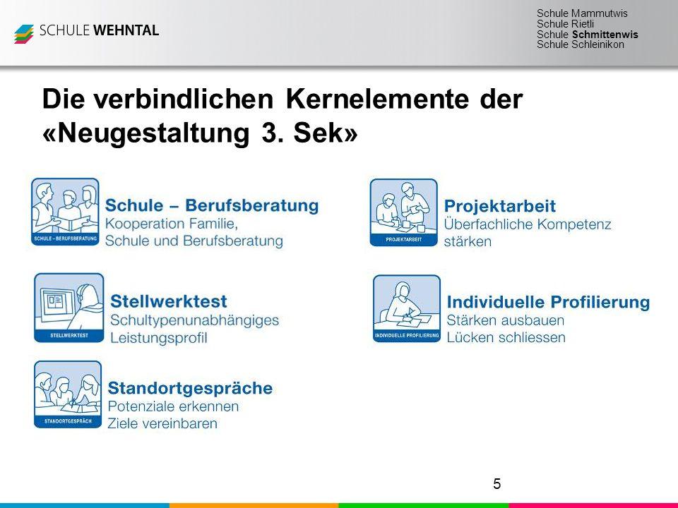 Schule Mammutwis Schule Rietli Schule Schmittenwis Schule Schleinikon Seite 5 3.