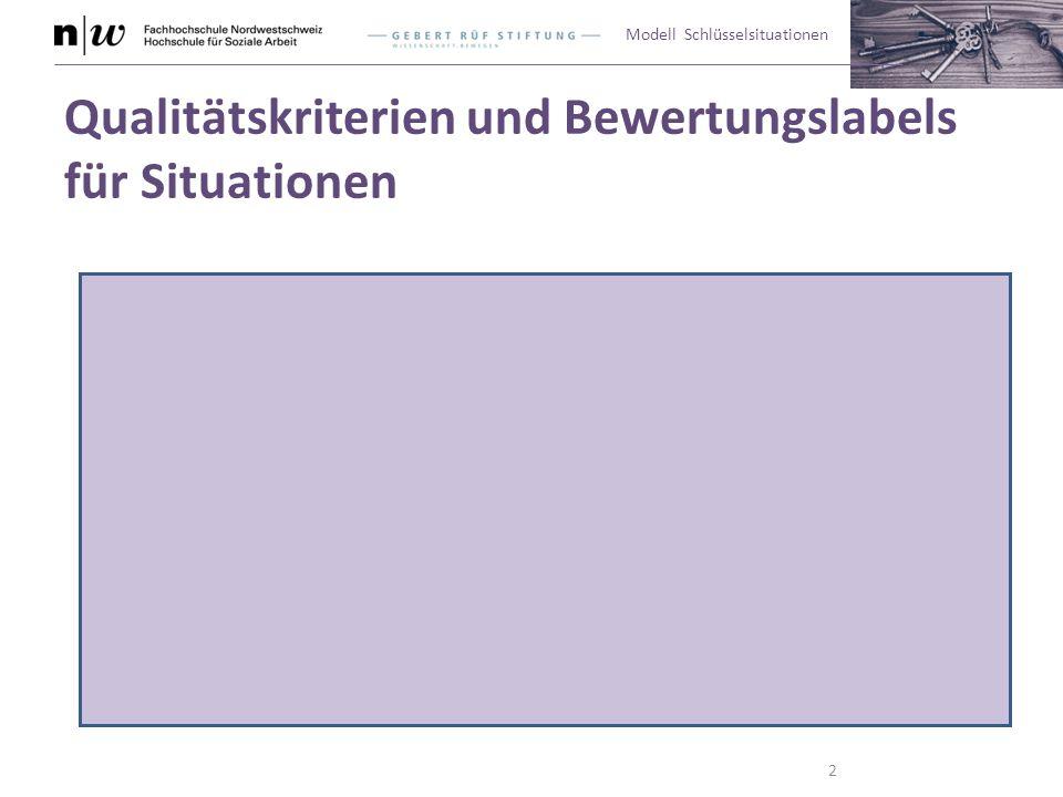 Modell Schlüsselsituationen Qualitätskriterien und Bewertungslabels für Situationen 2