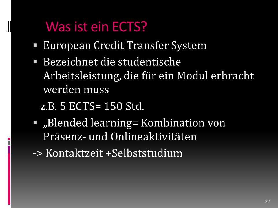 Was ist ein ECTS.