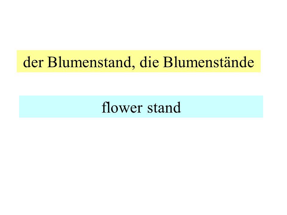 der Blumenstand, die Blumenstände flower stand