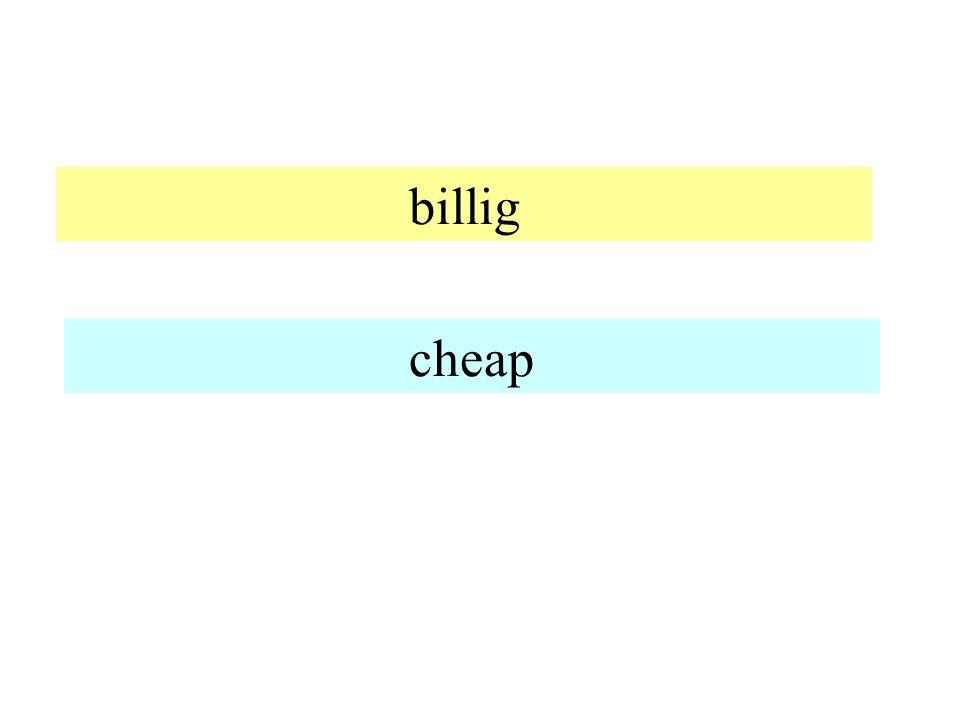billig cheap