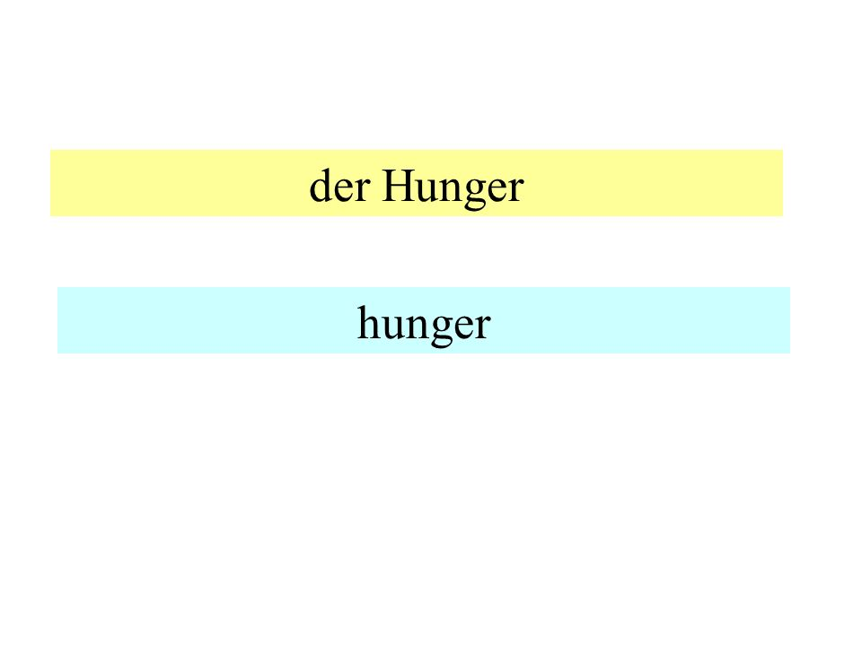 der Hunger hunger