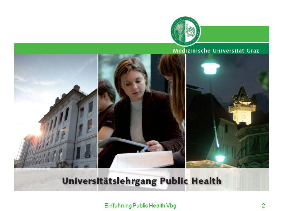 3 Beginn in Vorarlberg (Schloss Hofen): 18.09.2008 Beginn in Graz (Medizinische Universität): 25.09.2008 horst.noack@meduni-graz.at http:// public-health.uni-graz.at